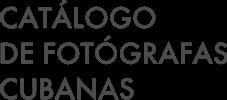 Catálogo de Fotógrafas Cubanas Logo