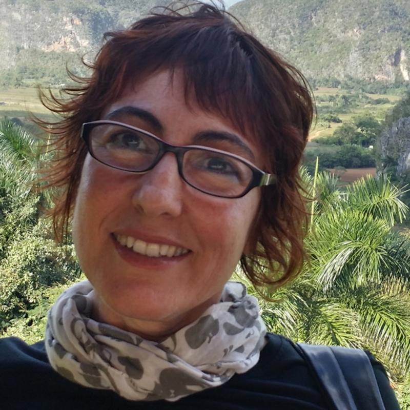 Selfie de Mina Bárcenas en el Valle de Viñales (Pinar del Río, Cuba)